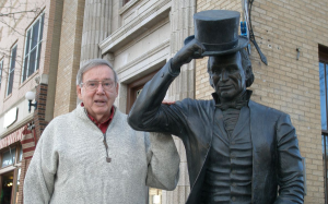 Don Perdue with James Monroe